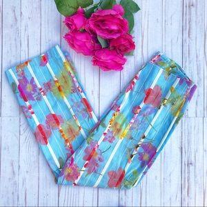 Pants - Vintage Kick Flare Cropped Floral High Waist 2 EUC